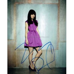 Zooey Deschanel Autographed 10x8 Photo
