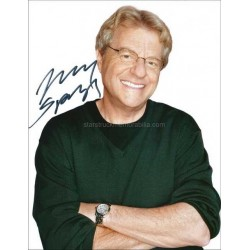 Jerry Springer Autographed 10x8 Photo