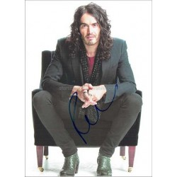 Russell Brand Autographed 12x8 Photo