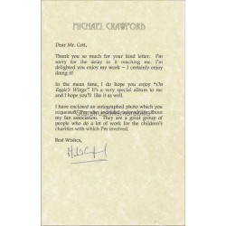 Michael Crawford Autographed Letter