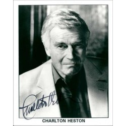 Charlton Heston Autographed 10x8 Photo