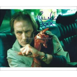 Bill Nighy Autographed 10x8 Photo