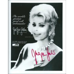 Zsa Zsa Gabor Autographed 10x8 Photo