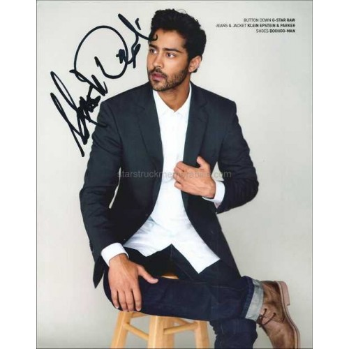 Manish Dayal Autographed 10x8 Photo