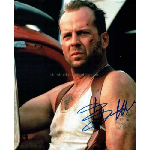 Bruce Willis Autographed 10x8 Photo