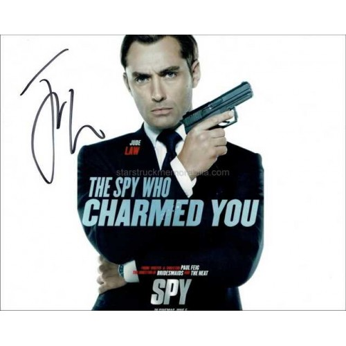 Jude Law Autographed 10x8 Photo