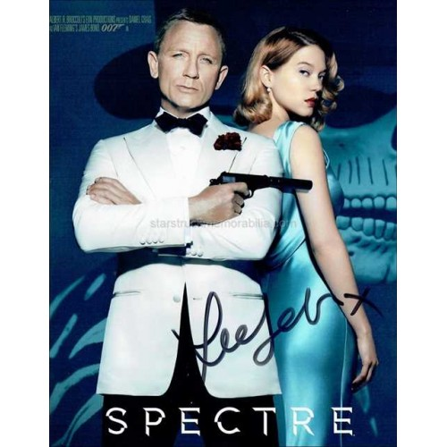 Lea Seydoux Autographed 10x8 Photo