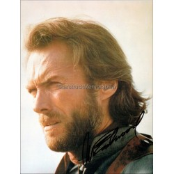 Clint Eastwood Autographed 10x8 Photocard