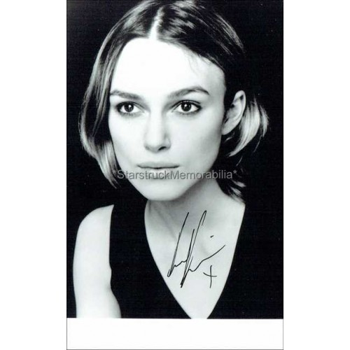 Keira Knightley Autographed 6x4 Photo