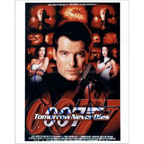Pierce Brosnan Autographed 10x8 Photo
