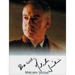 Malcolm Sinclair Autographed 10x8 Photo