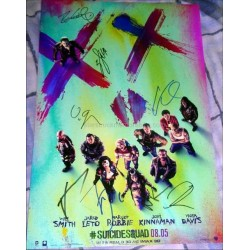 Suicide Squad Autographed 18x12 Photo