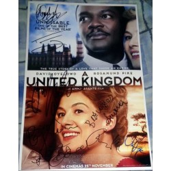 United Kingdom Autographed 18x12 Photo
