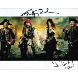 Pirates of the Caribbean Autographed 10x8 Photo