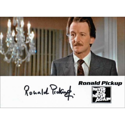 Ronald Pickup Autographed 10x8 Photo