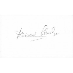 Desmond Llewelyn Autographed 5x3 White Card