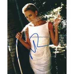 Charlize Theron Autographed 10x8 Photo