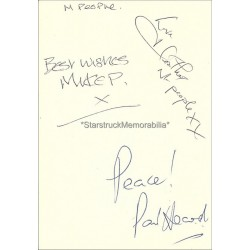 M People Autographed 6x4 Page