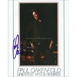 Paul Oakenfold Autographed 10x8 Photo