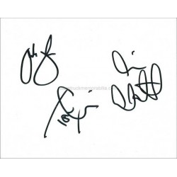 The Enemy Autographed 10x8 White Card