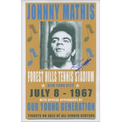 Johnny Mathis Autographed 17x11 Photo
