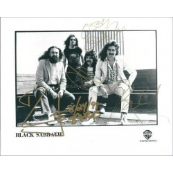 Black Sabbath Autographed 10x8 Photo