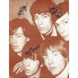 Rolling Stones Autographed 14x11 Photocard