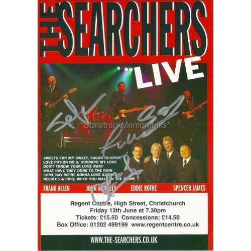 The Searchers Autographed 8x6 Tour Flyer