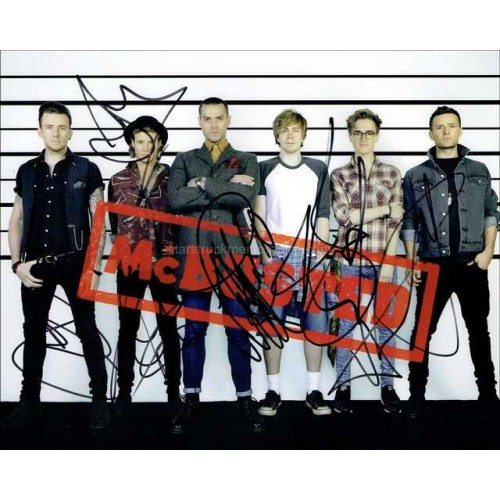 McBusted Autographed 10x8 Photo