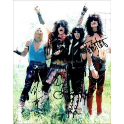 Motley Crue Autographed 10x8 Photo