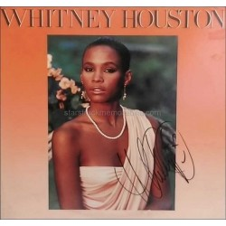 Whitney Houston Autographed LP