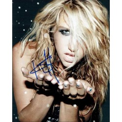 Kesha Autographed 10x8 Photo