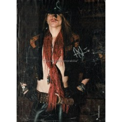 Axl Rose Autographed 12x8 Magazine Page
