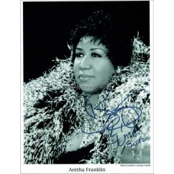 Aretha Franklin Autographed 10x8 Photo
