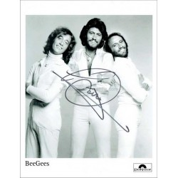 Barry Gibb Autographed 10x8 Photo