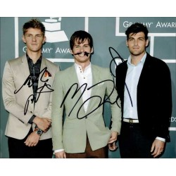 Foster the People Autographed 10x8 Photo
