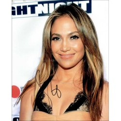 Jennifer Lopez Autographed 10x8 Photo