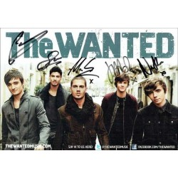 The Wanted Autographed 8x6 Photocard