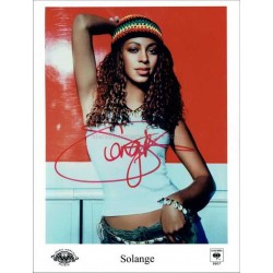 Solange Knowles Autographed 10x8 Photo