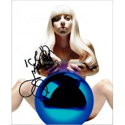 Lady Gaga Autographed 10x8 Photo