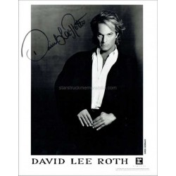 David Lee Roth Autographed 10x8 Photo