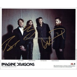 Imagine Dragons Autographed 10x8 Photo