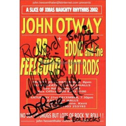 Eddie and the Hot Rods Autographed 8x6 Tour Flyer