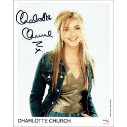Charlotte Church Autographed 10x8 Photo