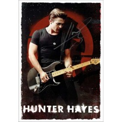 Hunter Hayes Autographed 12x8 Photocard