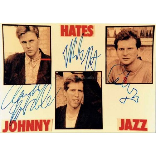Johnny Hates Jazz Autographed 7x5 Photo