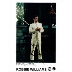 Robbie Williams Autographed 10x8 Photo