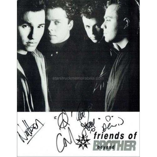 Brother Beyond Autographed 10x8 Photocard