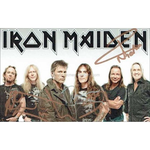 Iron Maiden Autographed 6x4 Photocard