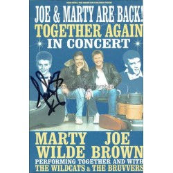 Marty Wilde and Joe Brown Autographed 8x6 Tour Flyer